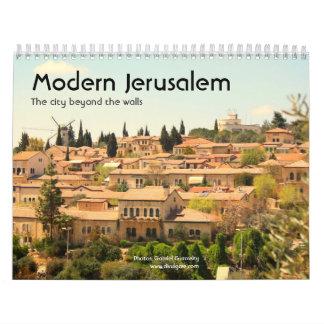 Modern Jerusalem Wall Calendar