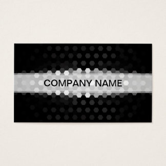 Modern Jet and Gray Hexagons Pattern Business Card