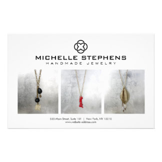 Modern Jewelry Designer Logo and Photography White Flyer