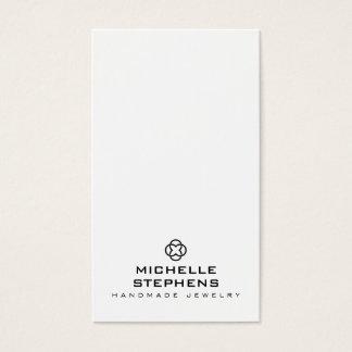 Modern Jewelry Designer Logo Earring Holder White Business Card
