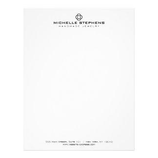 Modern Jewelry Designer Logo White Letterhead