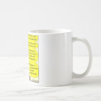 Modern jewish words color cartoon coffee mug