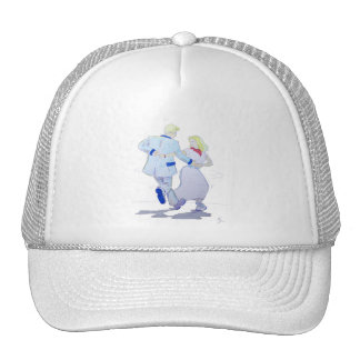 Modern Jive Ceroc Cartoon Couple Trucker Hat