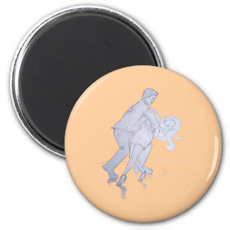 Modern Jive Ceroc Competition Dancers 2 Inch Round Magnet