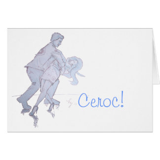 Modern Jive Ceroc Competition Dancers Card