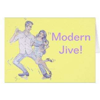 Modern Jive Ceroc Dancers Card