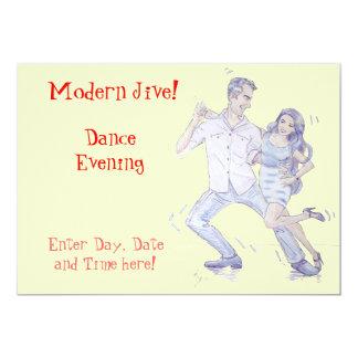 Modern Jive Ceroc Dancers Personalized Invitation