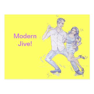 Modern Jive Ceroc Dancers Postcard