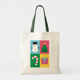 Modern Jolly and Bright Christmas Tote Bag