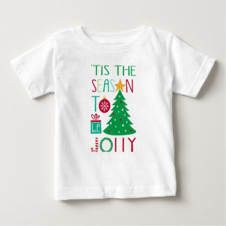 Modern Jolly Christmas Baby T-Shirt