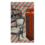 modern jubilee telephone booth london fashion business cards
