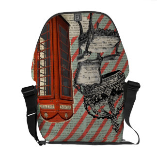 modern jubilee telephone booth london fashion courier bag