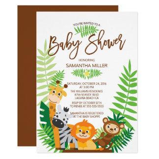 Modern Jungle Safari Baby Shower Card