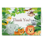 Modern Jungle Safari Baby Shower Thank You Stationery Note Card