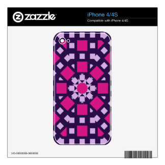 Modern kaleidoscope design with tile patterns skins for iPhone 4