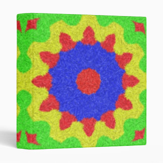 Modern kaleidoscope pattern vinyl binders