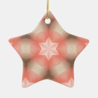 Modern Kaleidoscope Star of David Ceramic Ornament
