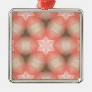 Modern Kaleidoscope Star of David Metal Ornament