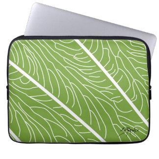 Modern Kalo Leaf - Green Laptop Sleeve