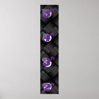 Modern Kevlar Weave Carbon Texture Poster