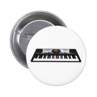 Modern Keyboard Synth: 3D Model: 2 Inch Round Button
