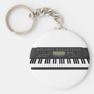 Modern Keyboard Synth: 3D Model: Basic Round Button Keychain