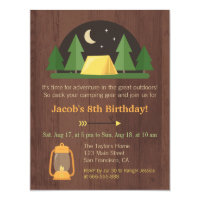 Camping birthday invitations announcements zazzle modern kids camping birthday party invitations filmwisefo