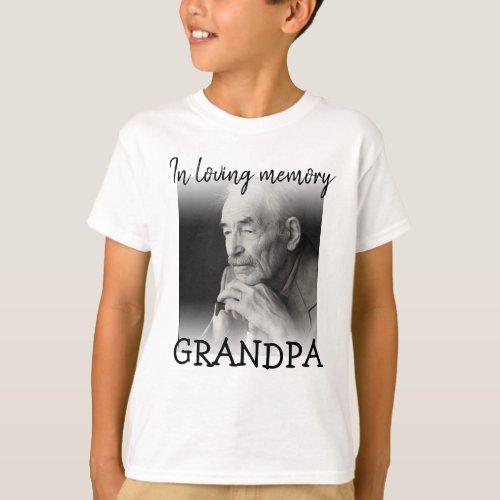 Modern | Kids | Photo Memorial  T-Shirt