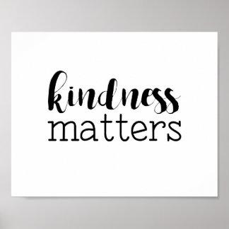 Modern Kindness Matters Art Poster