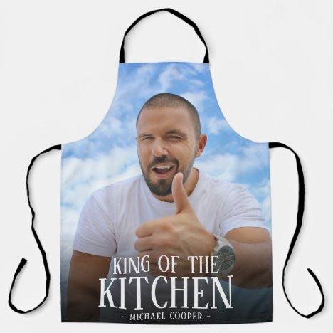 Modern King of the Kitchen Photo   Name Apron