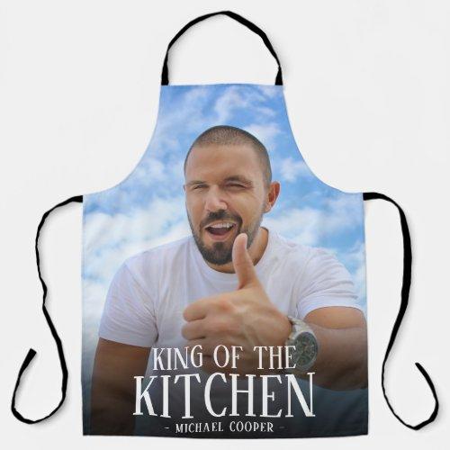 Modern King of the Kitchen Photo | Name Apron