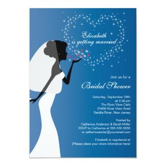 Modern Kissing Bride Bridal Shower Invitation