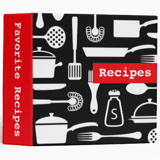 Modern kitchen recipe binder / organizer