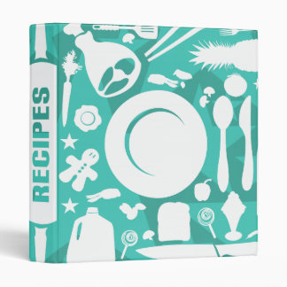 Modern Kitchen Utensils Recipe Binder. Binder