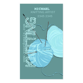 Modern Knitting  Craft Artist Business Card Templates