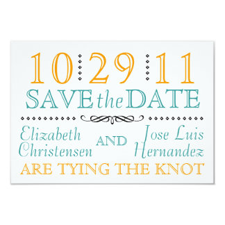 Modern Knot Save the Date 3.5x5 Paper Invitation Card