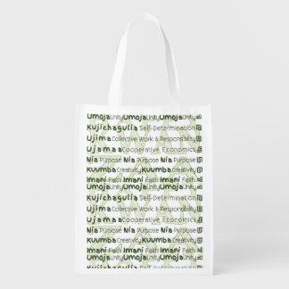 Modern Kwanzaa African American Holiday Grocery Bag