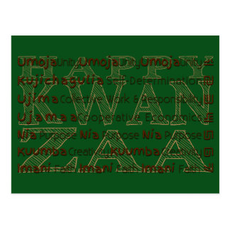 Modern Kwanzaa African American Holiday Post Card