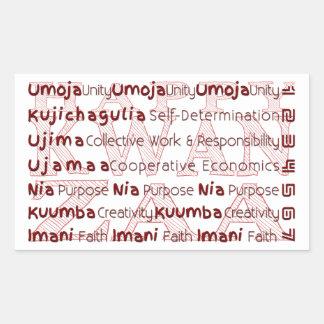 Modern Kwanzaa African American Holiday Rectangular Sticker
