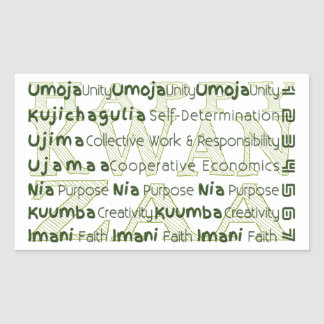 Modern Kwanzaa African American Holiday Rectangular Sticker