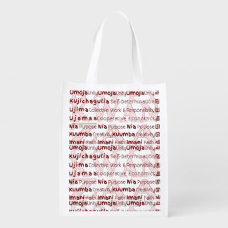 Modern Kwanzaa African American Holiday Reusable Grocery Bag
