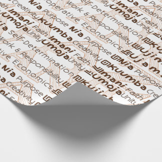Modern Kwanzaa Gift Wrap Brown