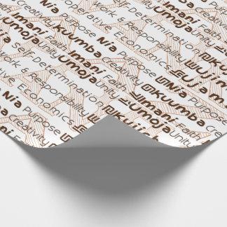Modern Kwanzaa Gift Wrap Brown