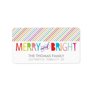 MODERN LABEL merry & bright bold colorful type