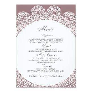 Modern lace and bazaar background wedding menu card