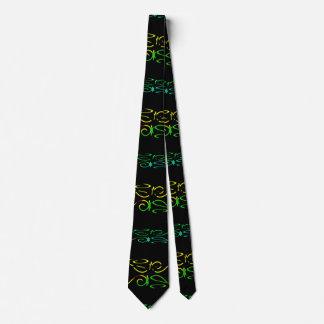Modern Lace Stripe Pattern Neck Tie
