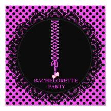 MODERN LACEUP BACHELORETTE PARTY INVITATION
