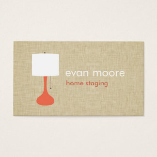 Modern Lamp Home Staging Business Card - linen