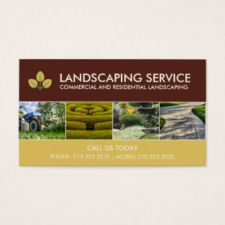 Modern Landscaping Service Business Cards
