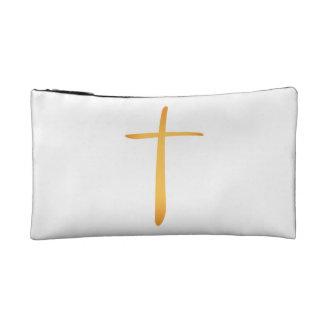 Modern Latin Christian Cross Makeup Bags